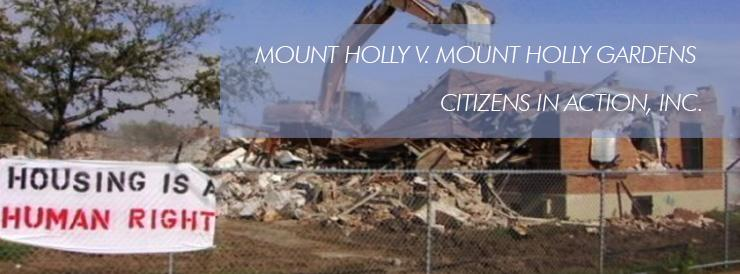 Mount Holly v. Mount Holly Gardens Citizens in Action, Inc.