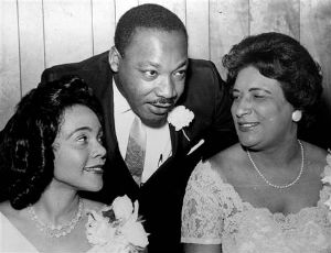 Martin Luther and Coretta Scott King wtih Constance Baker Motley