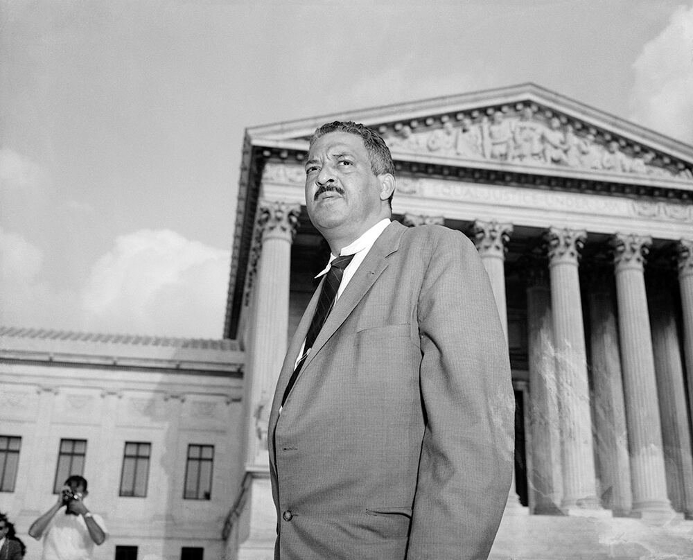 Thurgood Marshall on Supreme Court Steps (1958)