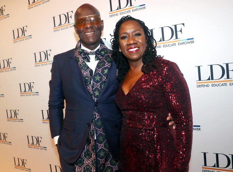 NEW YORK, NEW YORK - NOVEMBER 07: Dapper Dan and Sherrilyn Ifill attend the NAACP LDF 33rd National Equal Justice Awards Dinner at Cipriani 42nd Street on November 07, 2019 in New York City. (Photo by Johnny Nunez/Getty Images for NAACP LDF)