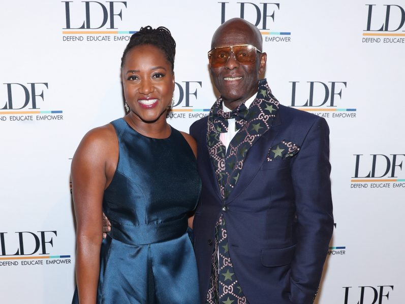 NEW YORK, NEW YORK - NOVEMBER 07: Janai Nelson and Dapper Dan attend the NAACP LDF 33rd National Equal Justice Awards Dinner at Cipriani 42nd Street on November 07, 2019 in New York City. (Photo by Bennett Raglin/Getty Images for NAACP LDF)