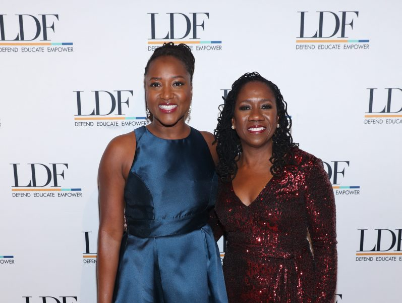 NEW YORK, NEW YORK - NOVEMBER 07: Janai Nelson and Sherrilyn Ifill attend the NAACP LDF 33rd National Equal Justice Awards Dinner at Cipriani 42nd Street on November 07, 2019 in New York City. (Photo by Bennett Raglin/Getty Images for NAACP LDF)