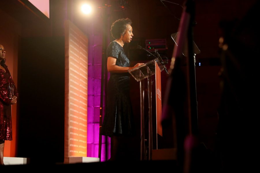 NEW YORK, NEW YORK - NOVEMBER 07: Nina Shaw speaks onstage during the NAACP LDF 33rd National Equal Justice Awards Dinner at Cipriani 42nd Street on November 07, 2019 in New York City. (Photo by Johnny Nunez/Getty Images for NAACP LDF)