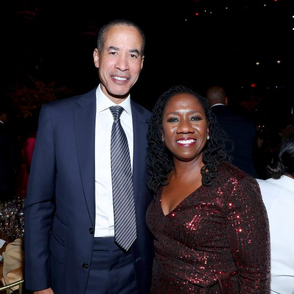 NEW YORK, NEW YORK - NOVEMBER 07: Charles Phillips and Sherrilyn Ifill (R) attend the NAACP LDF 33rd National Equal Justice Awards Dinner at Cipriani 42nd Street on November 07, 2019 in New York City. (Photo by Bennett Raglin/Getty Images for NAACP LDF)