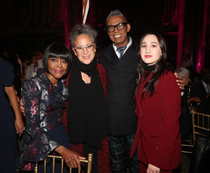 NEW YORK, NEW YORK - NOVEMBER 07:  Cicely Tyson, Gina Belafonte,  B. Michael and Maria Belafonte attend the NAACP LDF 33rd National Equal Justice Awards Dinner at Cipriani 42nd Street on November 07, 2019 in New York City. (Photo by Johnny Nunez/Getty Images for NAACP LDF)