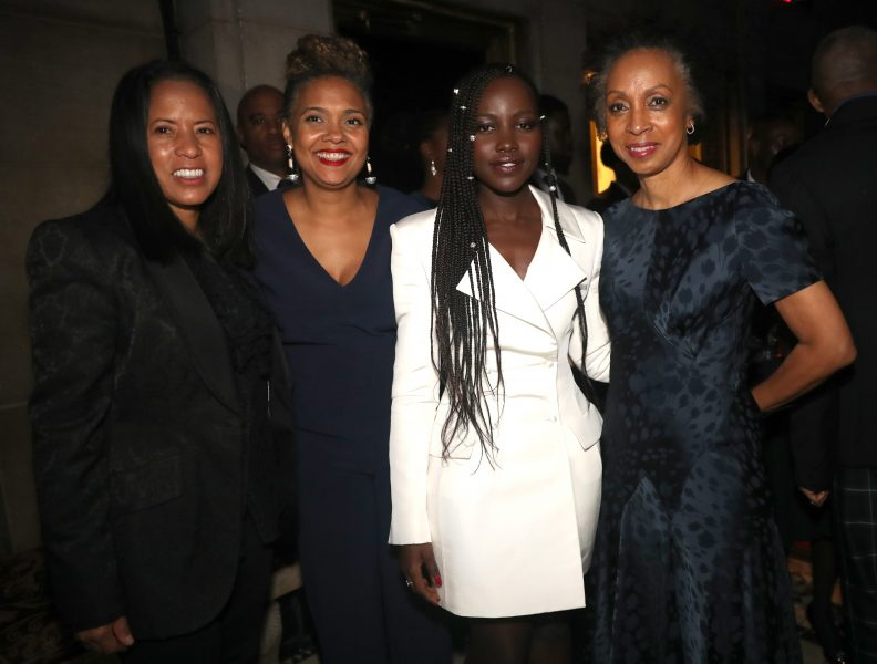 NEW YORK, NEW YORK - NOVEMBER 07: Michelle Ebanks, Cori Murray,  Lupita Nyong'o and Nina Shaw attend the NAACP LDF 33rd National Equal Justice Awards Dinner at Cipriani 42nd Street on November 07, 2019 in New York City. (Photo by Johnny Nunez/Getty Images for NAACP LDF)