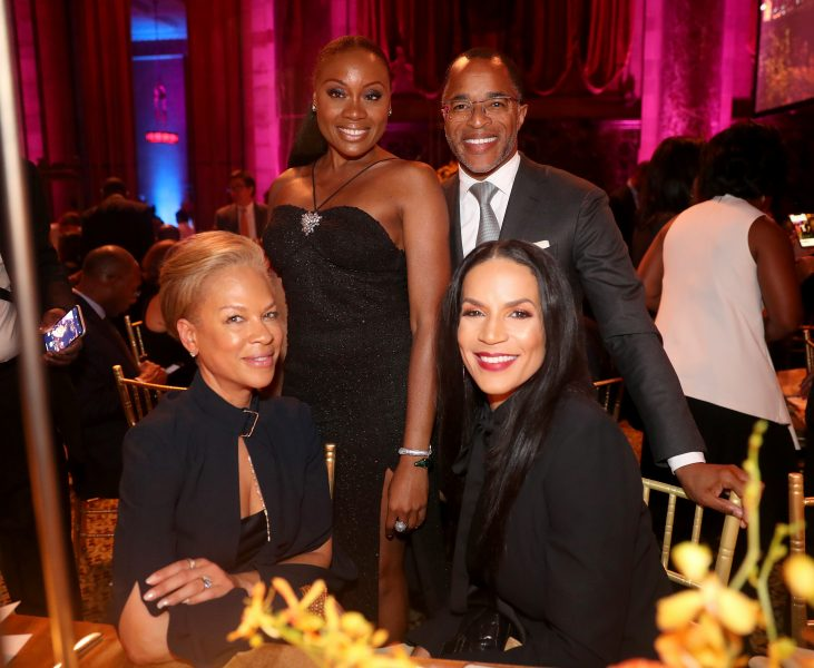 NEW YORK, NEW YORK - NOVEMBER 07: Tonya Lewis Lee, Midwin Charles, Jonathan Capehart and Crystal McCrary attend the NAACP LDF 33rd National Equal Justice Awards Dinner at Cipriani 42nd Street on November 07, 2019 in New York City. (Photo by Johnny Nunez/Getty Images for NAACP LDF)
