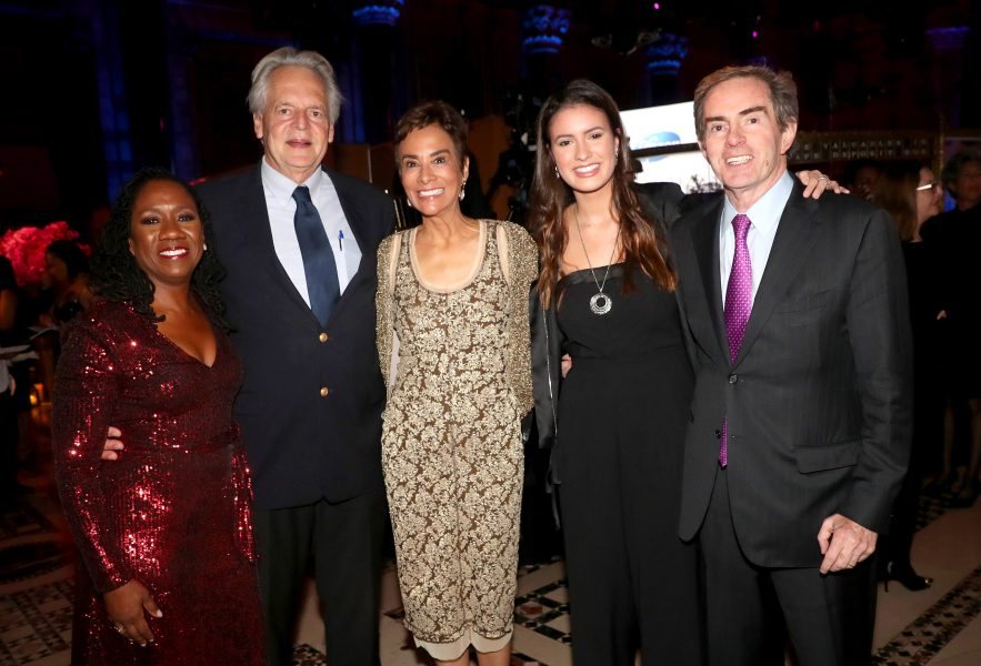 NEW YORK, NEW YORK - NOVEMBER 07: Sherrilyn IFill, Ivo Knobloch, Angela Vallot, Katherine Vallot-Basker, and Jim Basker attend the NAACP LDF 33rd National Equal Justice Awards Dinner at Cipriani 42nd Street on November 07, 2019 in New York City. (Photo by Johnny Nunez/Getty Images for NAACP LDF)